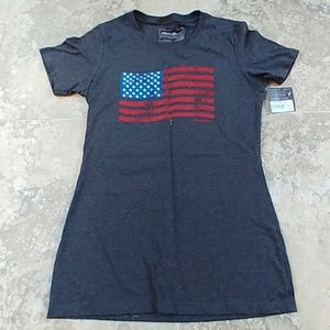 Eddie Bauer American flag tshirts